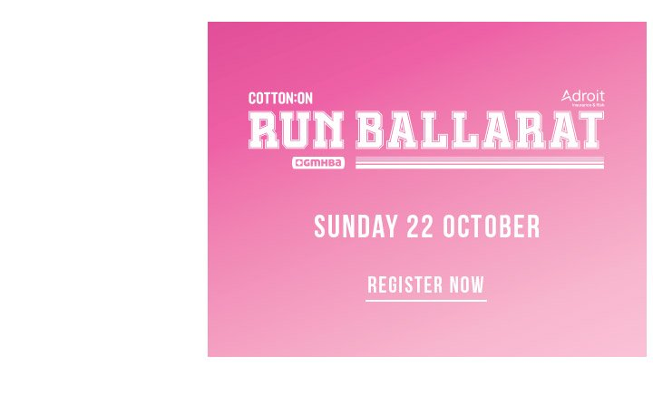 Cotton On Body | Run Ballarat | Register Now