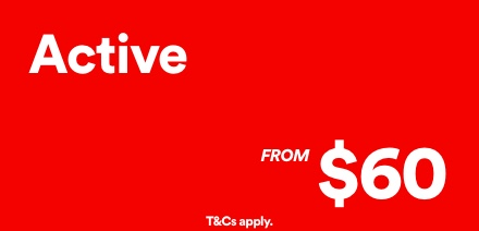 Active From $5. T and Cs apply. Click to shop.