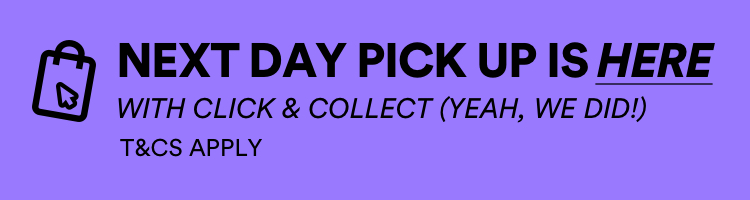 Next Day Pickup Now Available. Click here to learn more about Click and Collect