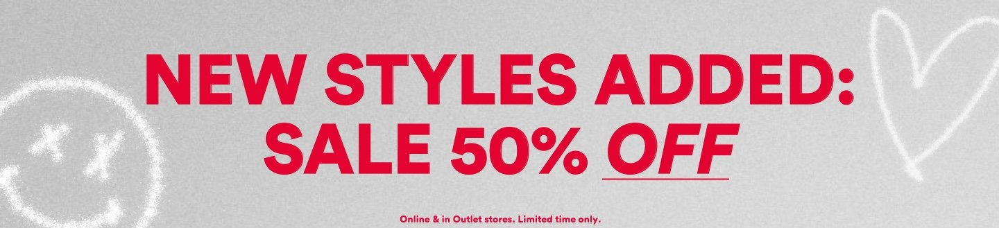 Outlet. 50 - 70 Percent Off