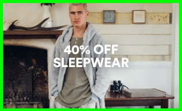 40% off Men's Sleepwear. Click to Shop.