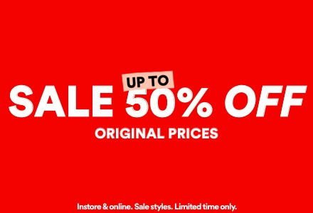 Sale Up to 50% Off. Click to shop.