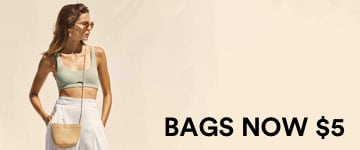 Women's Bags Now $5. Shop Now.