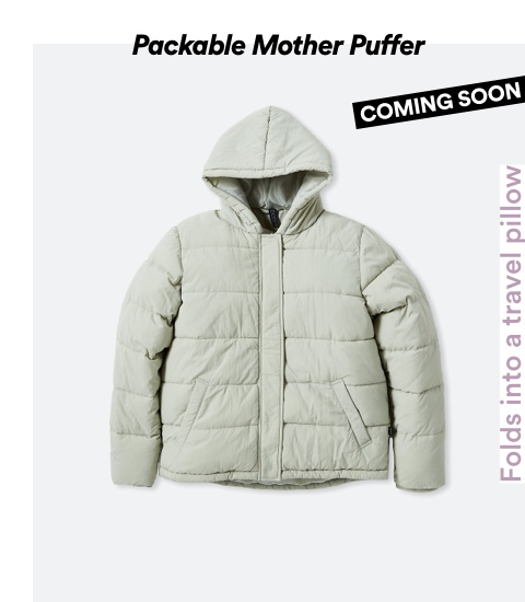 Packable Mother Puffer. Click to shop.