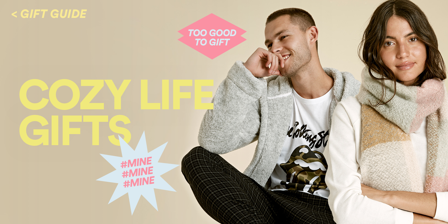 Cozy Gifts. Click to View Gift Guide.