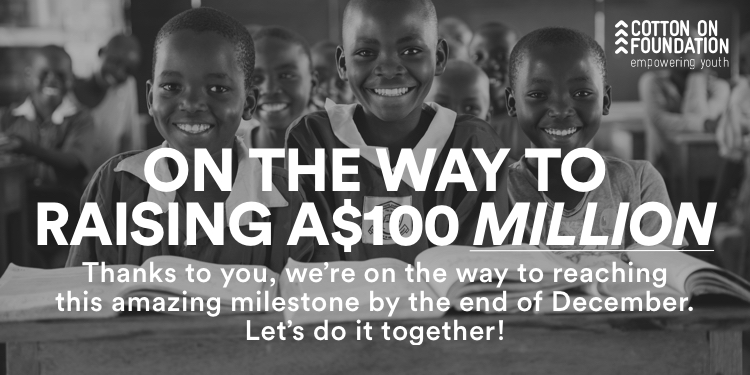 On the way to raising $100 million.
