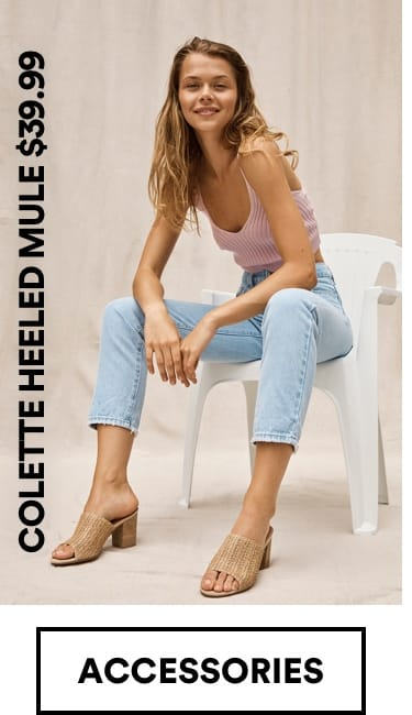 Colette Heeled Mule $39.99. Click to Shop
