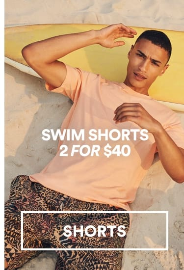 Cotton On. Swim Shorts 2 for $40. Click to Shop