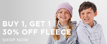 Girls Fleece. Shop Now.