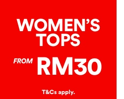 Women's Tops from RM30. Click to Shop