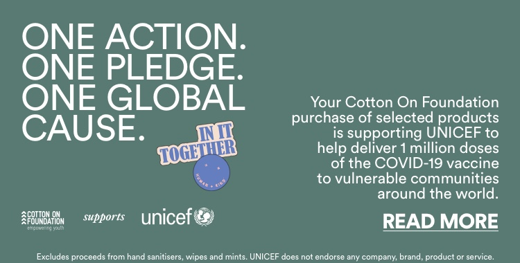 One Action. One Pledge. One Global Cause. Read More