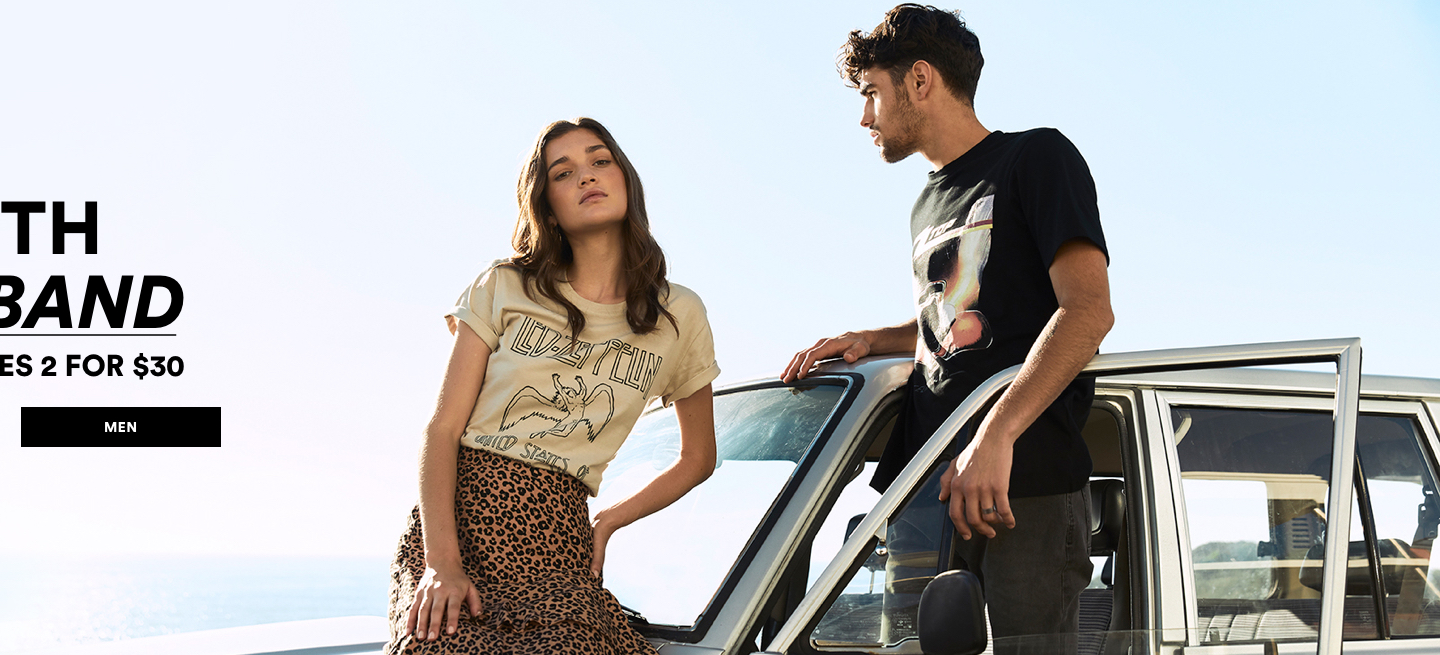 Cotton On Graphic Tees 2 for $30. Click to shop Men's