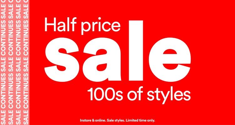 Half Price Sale.