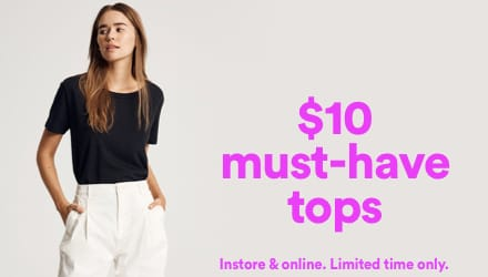 $10 Must Have Tops. Click to shop.