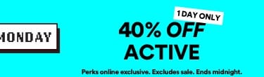 40% Off Active. Click to Shop.