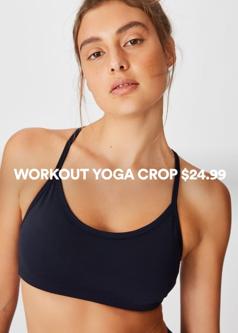 Workout Yoga Crop. Click to shop