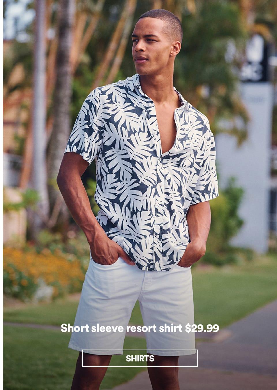 Men's Resort Shirt. Click to shop