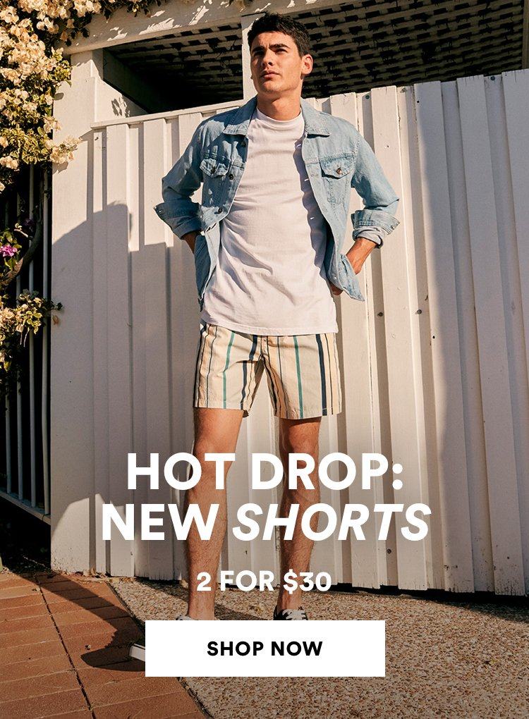 Mens Shorts 2 for $30. Click to shop.