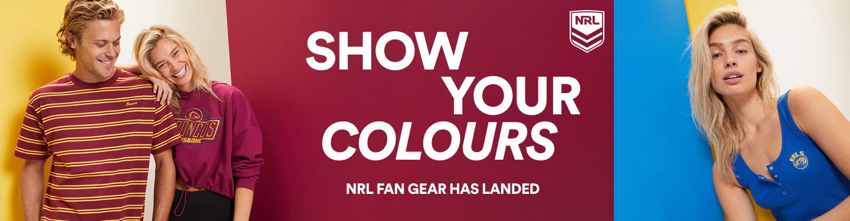 Show Your Colours. Shop NRL Gear.
