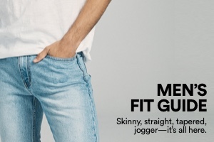 Shop Men's Denim Fit Guide.