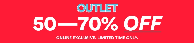 Outlet 50-70% Off. Click to Shop.