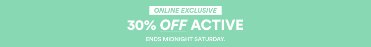 30% Off Activewear. Click to Shop Now.