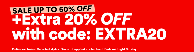 Sale 50% Off. Plus Extra 20% Off With Code: EXTRA20