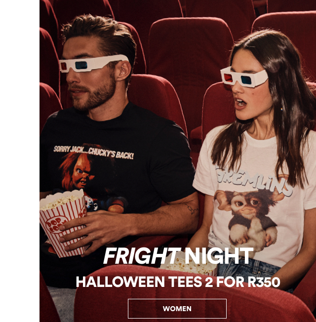Fright Night 2 for R350 Tees. Click to Shop.