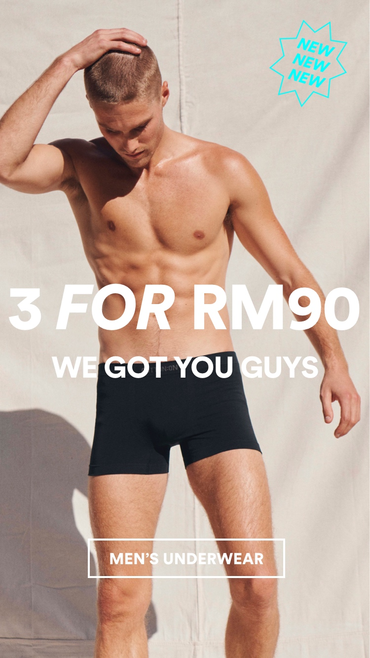 Men's Trunks 3 for RM90. Click to shop.
