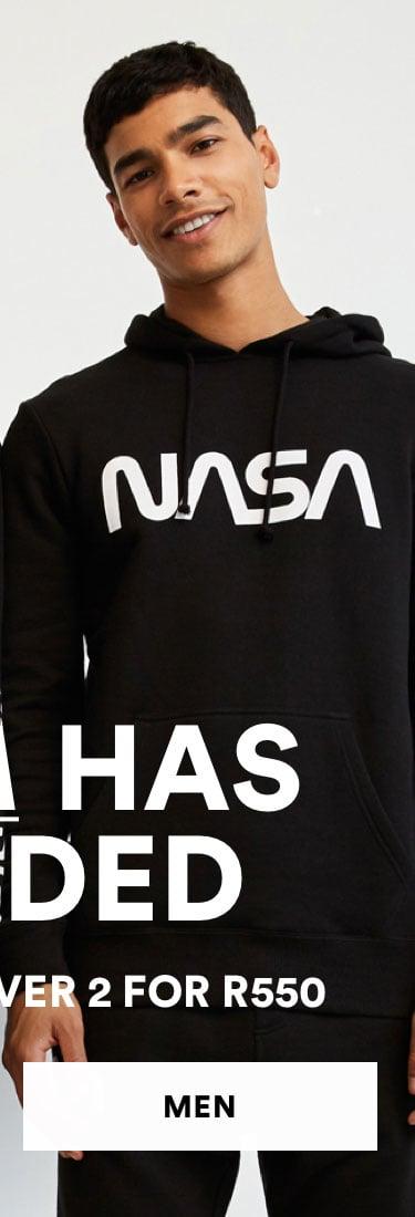 NASA Has Landed. Tees 2 for R550. Shop Men.