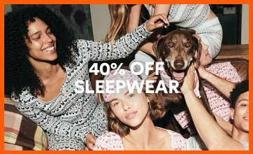 40% off Sleepwear. Click to Shop.
