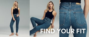 Find Your Fit. Click to Shop Denim.