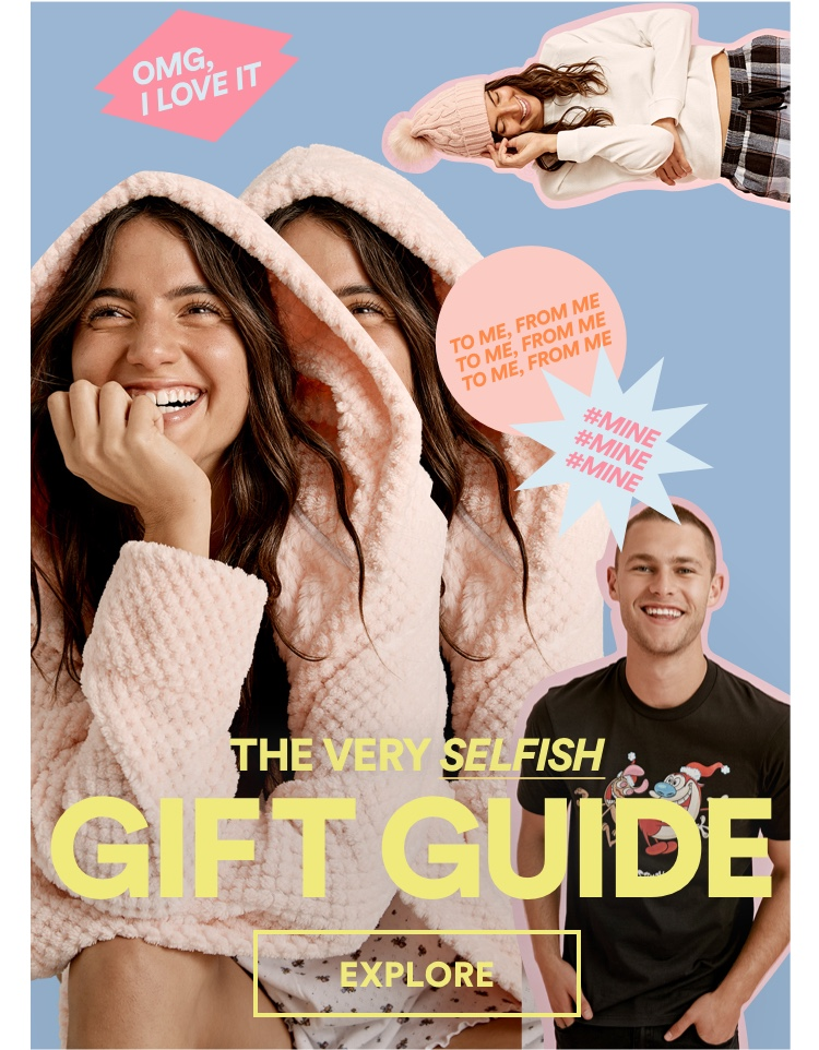 The Very Selfish Gift Guide. Click to Shop.
