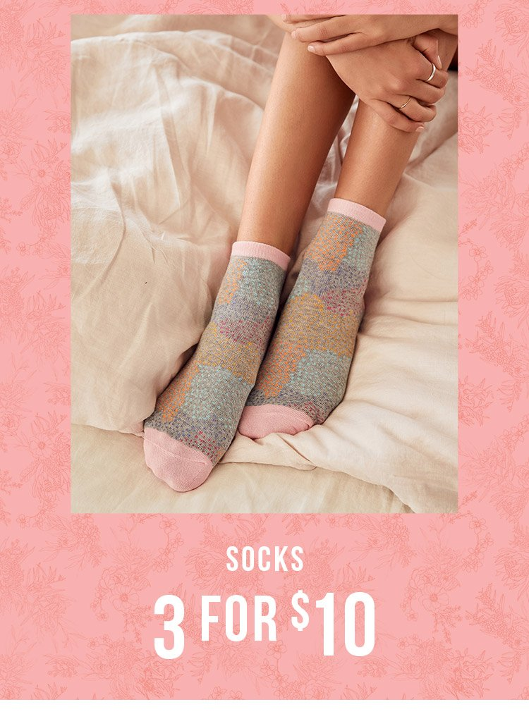 Socks 3 for $10 | Shop Now