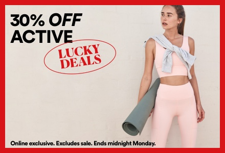 30% Off Active. Click to shop.