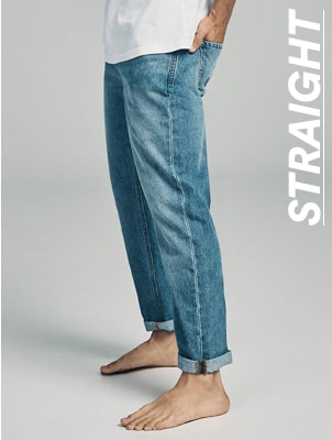 Straight Jeans. Click to shop.