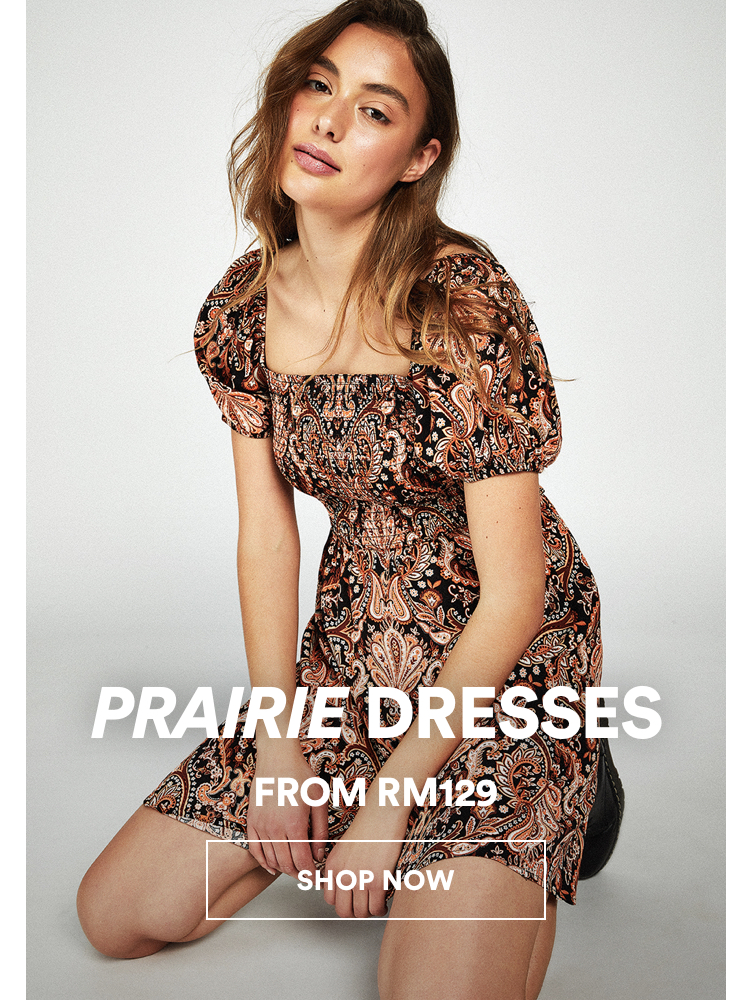 Prairie Dress from RM129. Click to Shop.