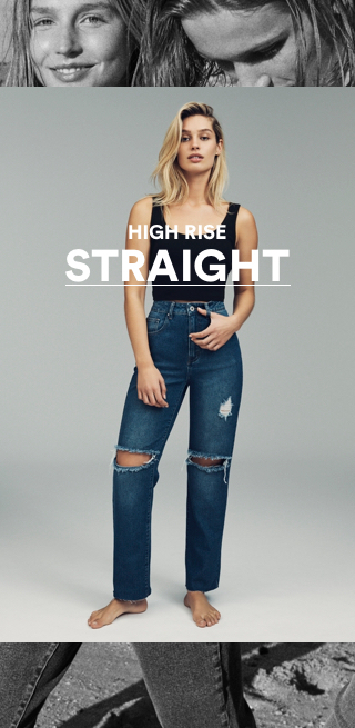 Cotton On High Rise Staight Jeans. Click to shop now.