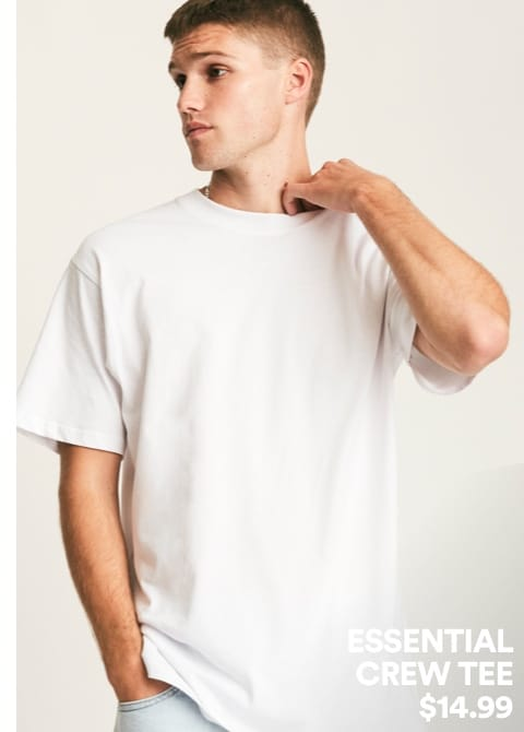 Essential Crew Tee. Click to shop