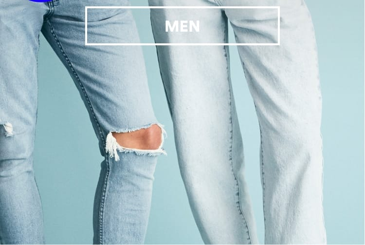 True Blue, New Denim. Shop Men.