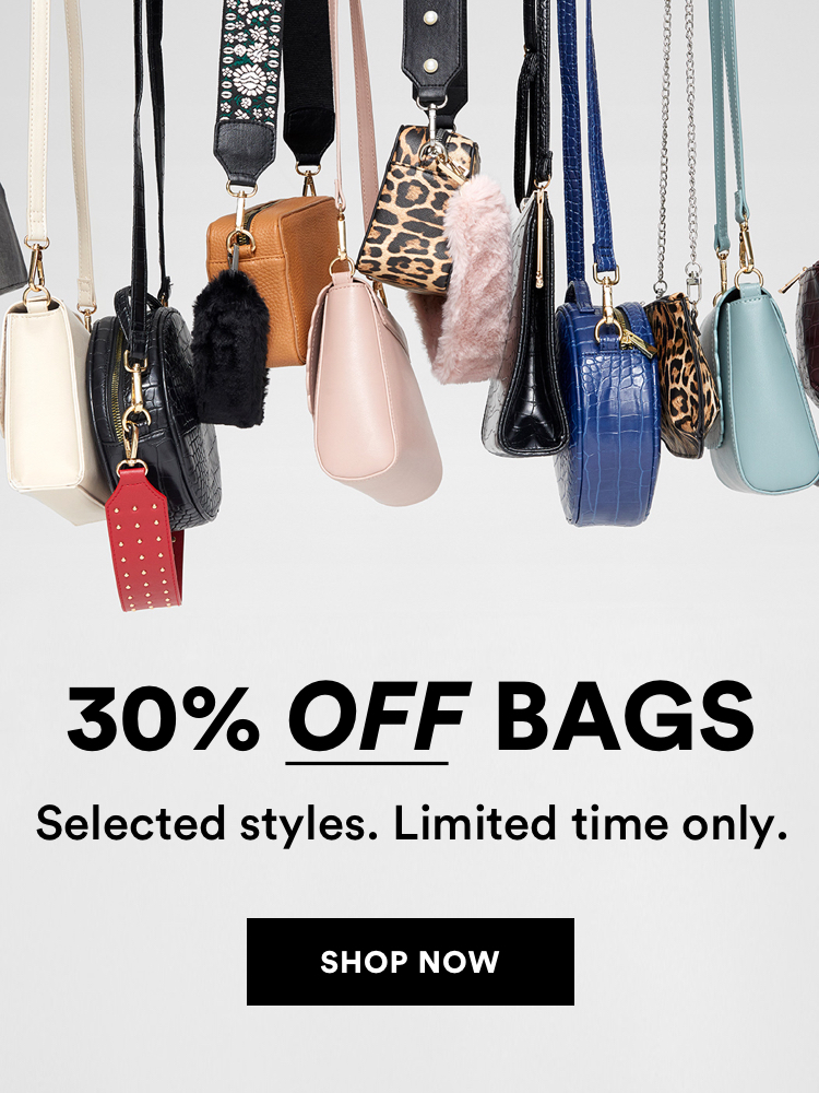 30% off Bags. Selected styles, for a limited time only. Shop Now.