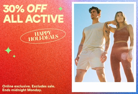 30% Off All Activewear. Click to Shop