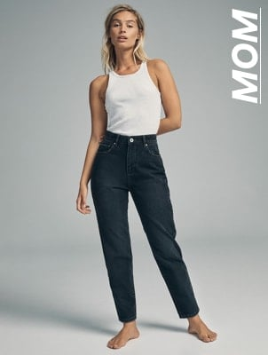 Mom Jeans. Click to shop.