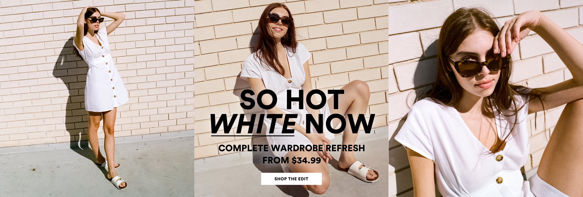 a3e04fd6d738a So Hot White Now. Complete Wardrobe Refresh from $34.99. Click to Shop the  Edit