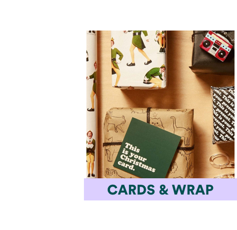 Cards & Wrap Chistmas Gifts. Click to shop.