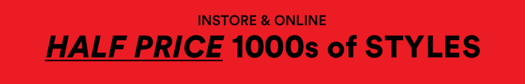 Instore & Online. Sale 50% Off 1000s of styles.