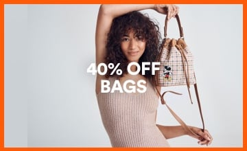 40% off Bags. Click to Shop.