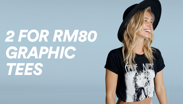 Cotton On 2 for RM80 Graphic Tees. Click To Shop