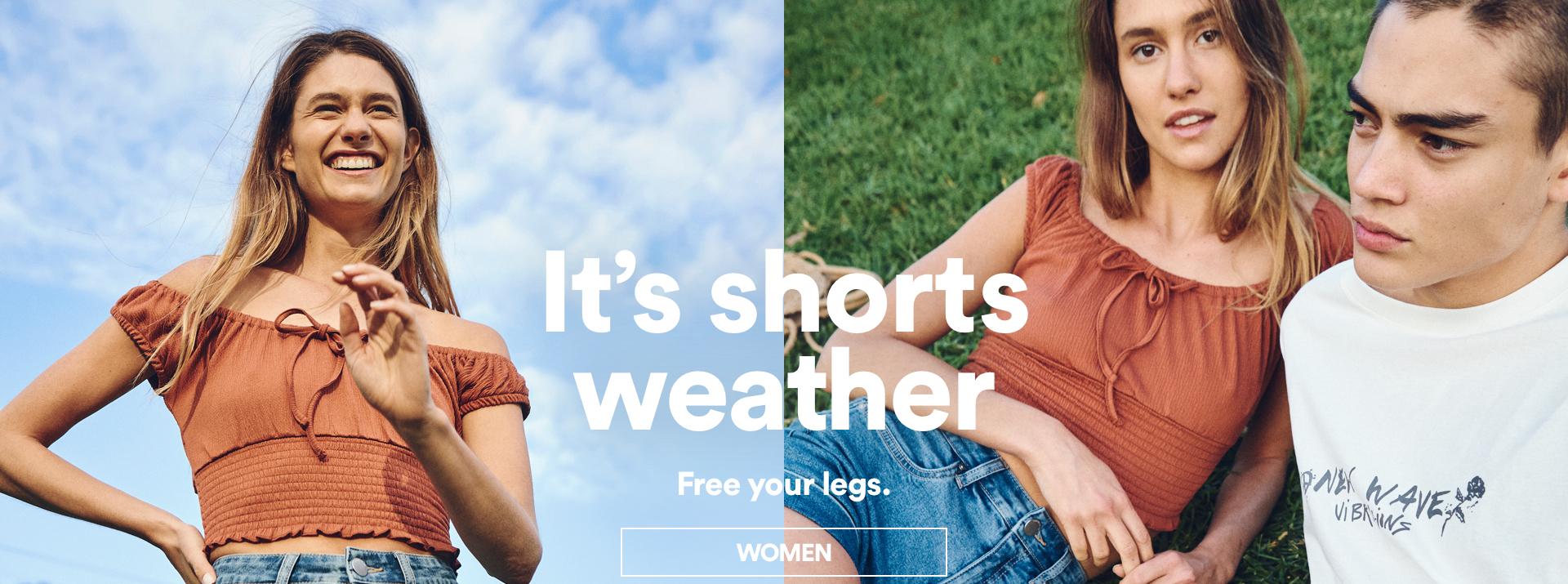 Women's Shorts. Click to shop.