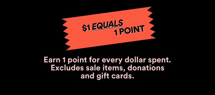 $1 Equals 1 Point.
